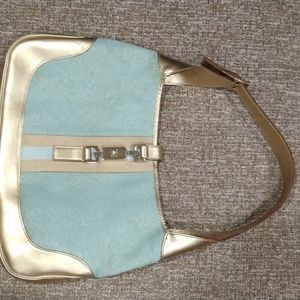 Authentic Gucci Jackie bag in gold and blue color
